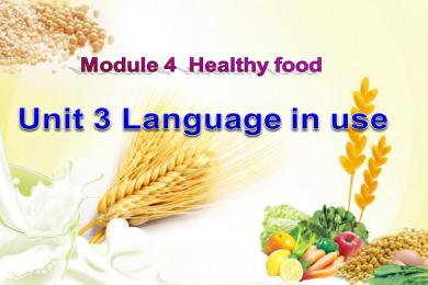 healthy food ppt