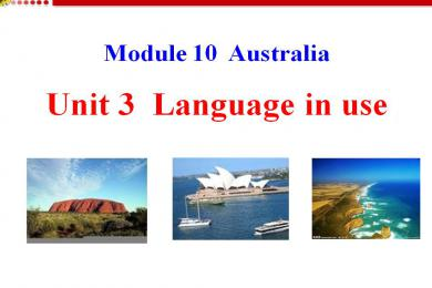《Language in use》Australia PPT课件