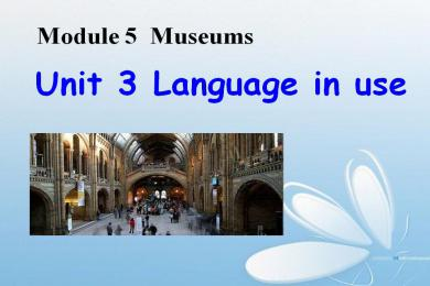 《Language in use》Museums PPT课件3
