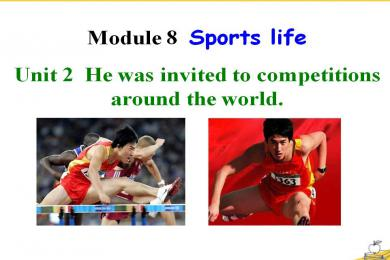 《He was invited to competitions around the world》Sports life PPT课件3