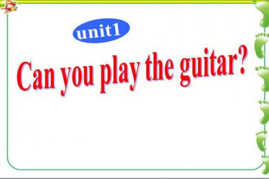 《Can you play the guitar》PPT课件6