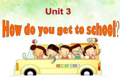 《How do you get to school》PPT课件3