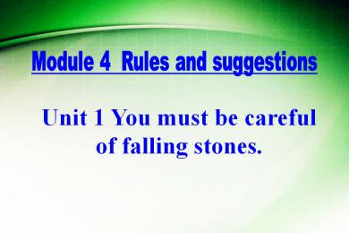 《You must be careful of falling stones》Rules and suggestions PPT课件