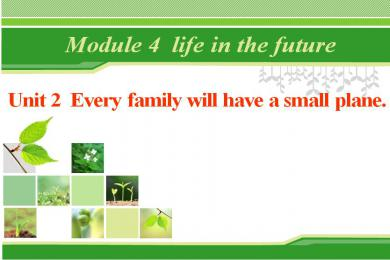 《Every family will have a small plane》Life in the future PPT课件