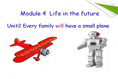《Every family will have a small plane》Life in the future PPT课件3
