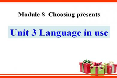 《Language in use》Choosing presents PPT课件