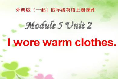 《I wore warm clothes》PPT课件3