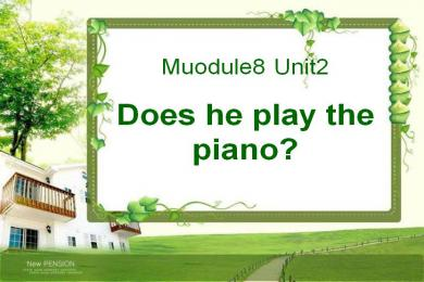 《Does he play the piano》PPT课件3