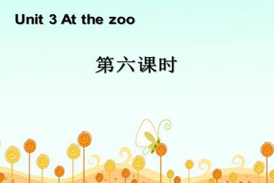 《At the zoo》第六课时PPT课件