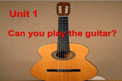 《Can you play the guitar》PPT课件7