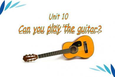 《Can you play the guitar》PPT课件4