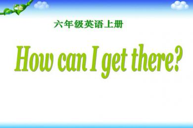 《How can I get there》PPT课件3