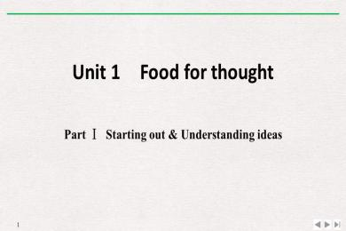 《Food for thought》PartⅠ PPT