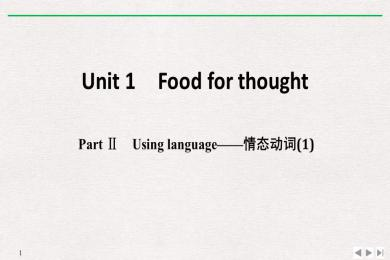 《Food for thought》PartⅡ PPT