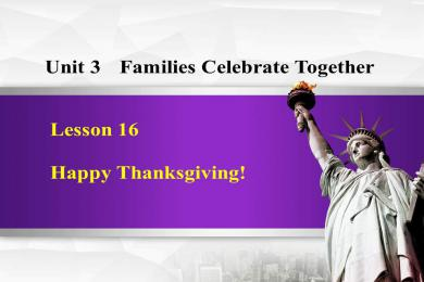 《Happy Thanksgiving!》Families Celebrate Together PPT